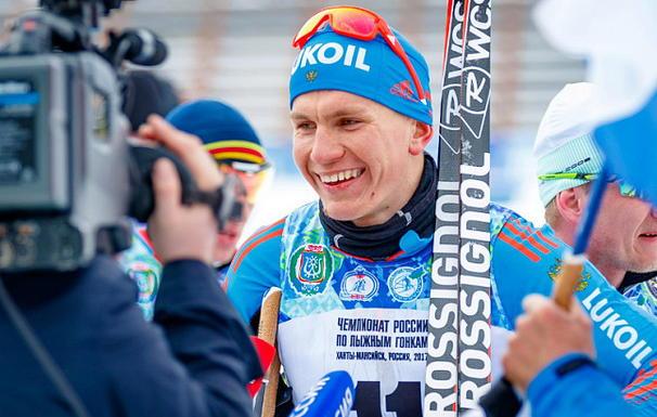 Александр Большунов лыжи
