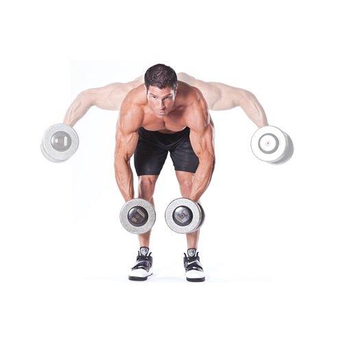 Фитнес упражнение махи в наклоне