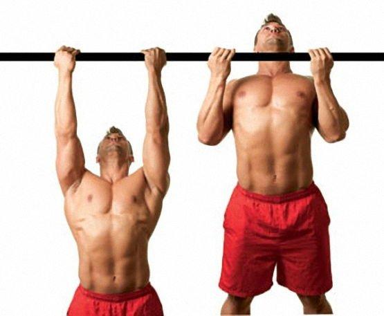 Фитнес упражнение подтягивания к груди