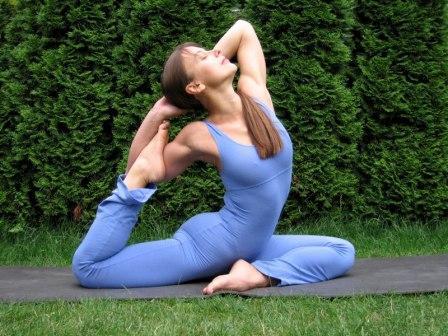 Спортивное упражнение йога