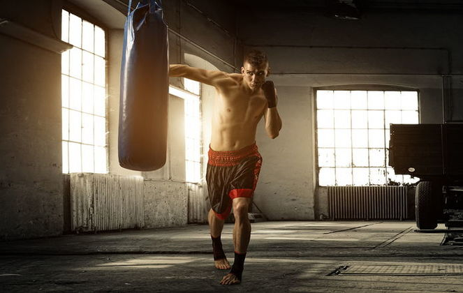 Тренировка с мешком и грушами